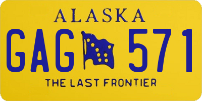 AK license plate GAG571