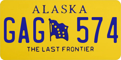 AK license plate GAG574