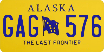 AK license plate GAG576