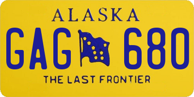 AK license plate GAG680