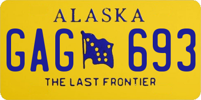 AK license plate GAG693