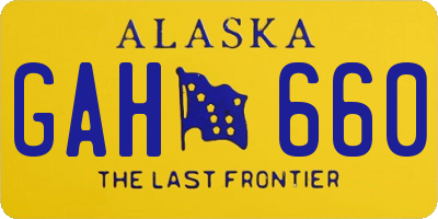 AK license plate GAH660