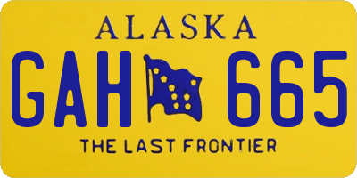 AK license plate GAH665