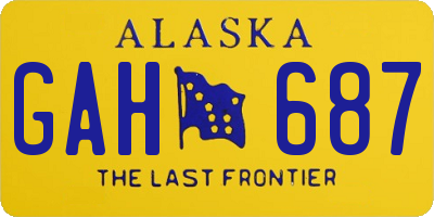 AK license plate GAH687