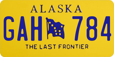 AK license plate GAH784