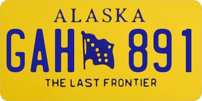 AK license plate GAH891