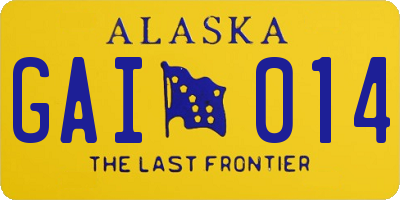 AK license plate GAI014