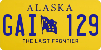 AK license plate GAI129