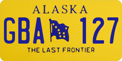 AK license plate GBA127