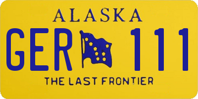AK license plate GER111