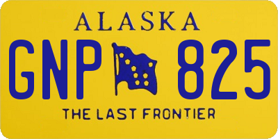 AK license plate GNP825