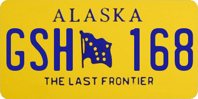 AK license plate GSH168