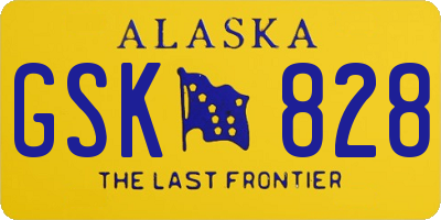 AK license plate GSK828