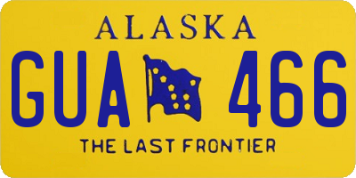 AK license plate GUA466