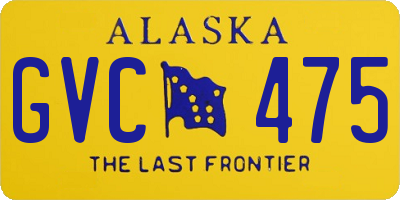 AK license plate GVC475