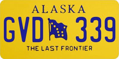 AK license plate GVD339