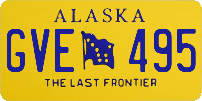 AK license plate GVE495