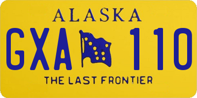 AK license plate GXA110