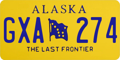 AK license plate GXA274