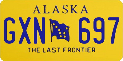 AK license plate GXN697