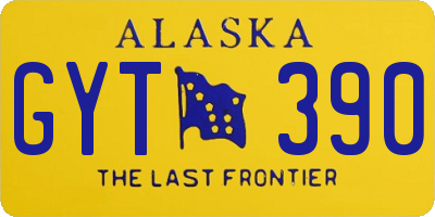 AK license plate GYT390