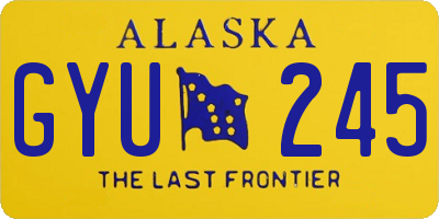 AK license plate GYU245