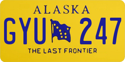 AK license plate GYU247