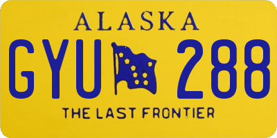 AK license plate GYU288