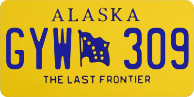 AK license plate GYW309