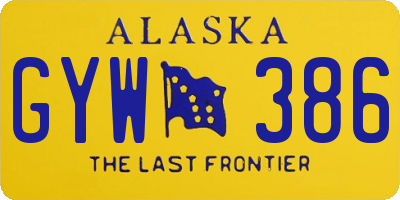 AK license plate GYW386