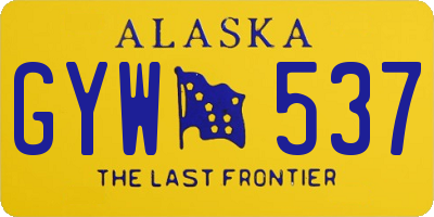 AK license plate GYW537