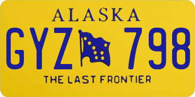 AK license plate GYZ798