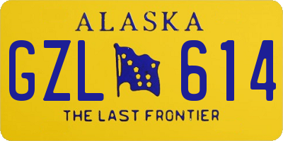 AK license plate GZL614