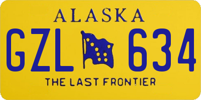 AK license plate GZL634