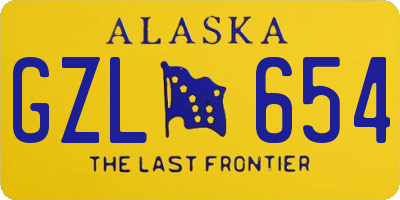 AK license plate GZL654