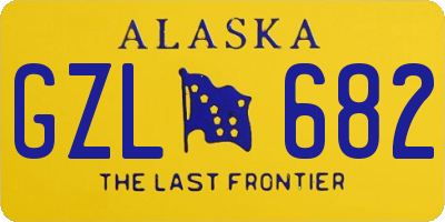AK license plate GZL682