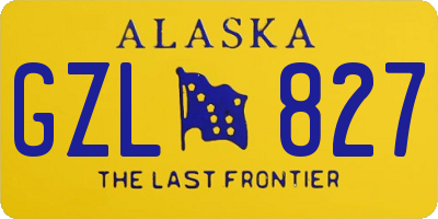 AK license plate GZL827