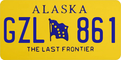 AK license plate GZL861