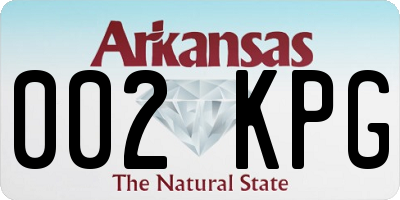 AR license plate 002KPG