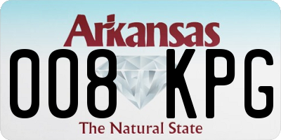 AR license plate 008KPG