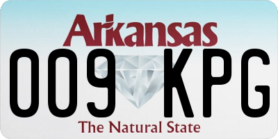 AR license plate 009KPG