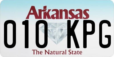 AR license plate 010KPG