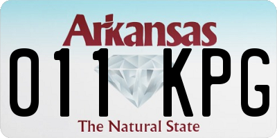 AR license plate 011KPG