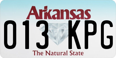 AR license plate 013KPG