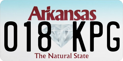 AR license plate 018KPG
