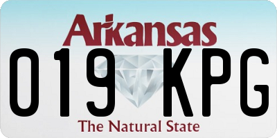 AR license plate 019KPG