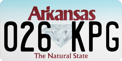AR license plate 026KPG
