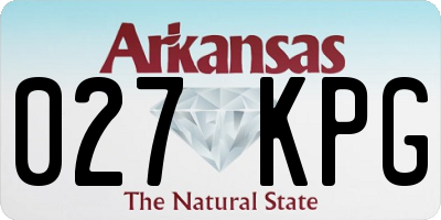 AR license plate 027KPG