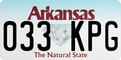 AR license plate 033KPG