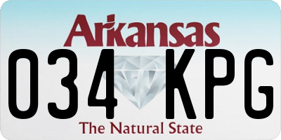 AR license plate 034KPG